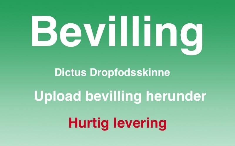 Beviling af dropfodsskinne