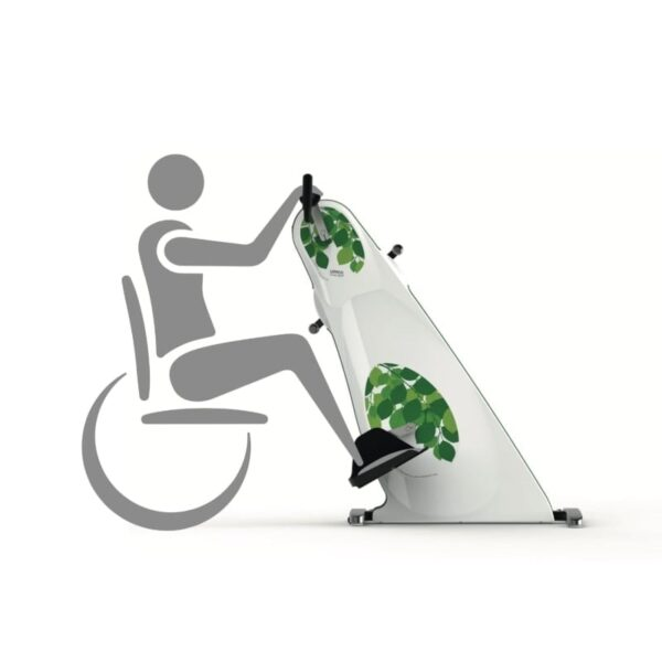 Active-passive exerciser for wheelchair use