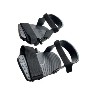 Pedals with heel rest / Heel support