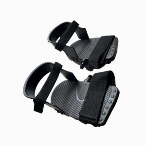 Pedaler med velcro og hælkappe - 2 pedaler