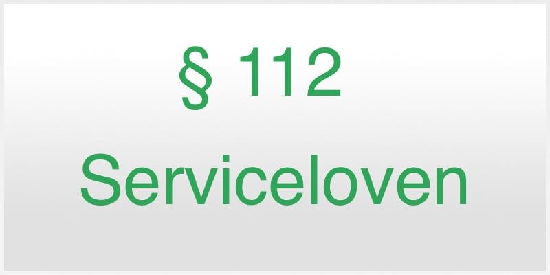 Serviceloven paragraf 112