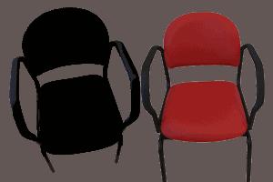 Smartstol i Sort og rød