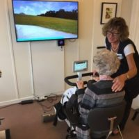 Video til motionscykler på plejehjem