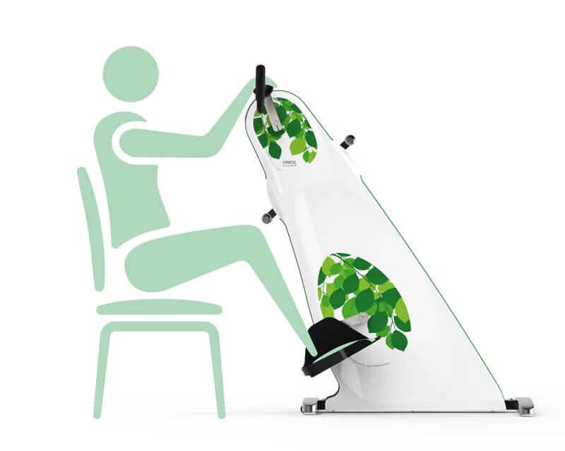 Træningscykel til stol grøn