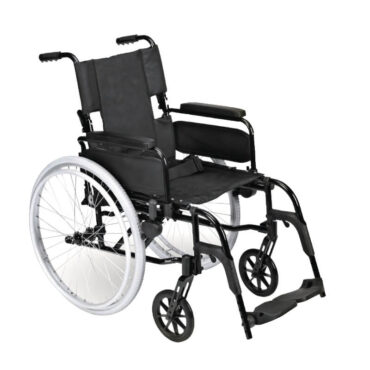 Transportkørestol let med store hjul